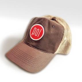 POI_baseball cap_brownNbeige